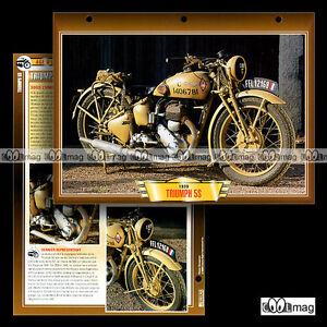 100-07-Fiche-Moto-TRIUMPH-500-5S-Modele-1939-1940-Classic-Bike-Motorcycle-Card