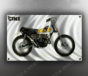 VINTAGE YAMAHA MOTOCROSS MOTORCYCLE BANNER