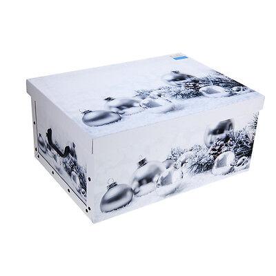 Christmas Storage Boxes Xmas Gift Baubles Presents Decorations Festive Box Case