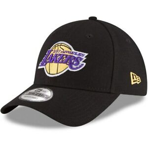 outlet best shoes factory authentic Los Angeles Lakers New Era 9Forty Black Structured Adjustable ...