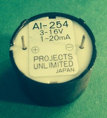 Miniature Magnetic Projects Unlimited AT-08 3 2.4 KHz Audio TRANSDUCER