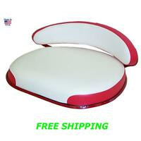 Ih Farmall 460 560 660 Seat Frame Cushions Backrest Red White