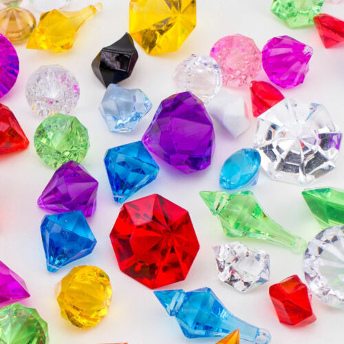 Assorted Acrylic Gems Pirate Jewels Confetti Vase Fillers Party Decorations Bead