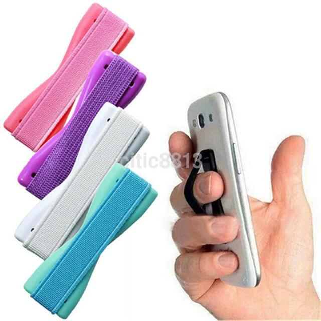 Finger Grip Elastic Holder Selfie Strap for galaxy iPhone 6s 7 Phone iPad Tablet