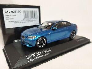1-43-Minichamps-BMW-M2-Coupe-F87-2016-M-2-Series-F22-Twin-Turbo-I6-Blue-Metallic