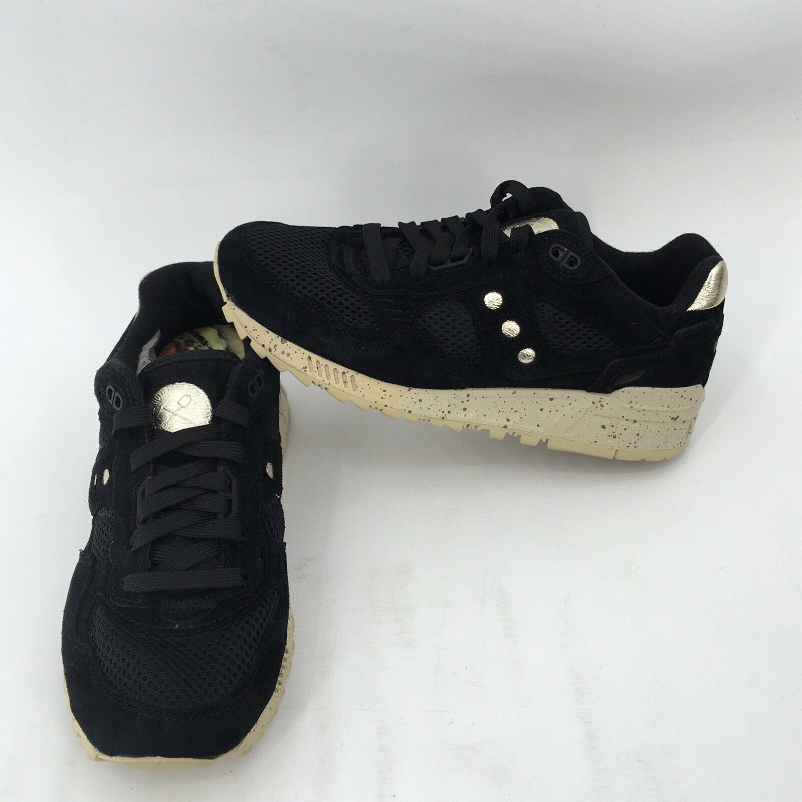 SAUCONY SHADOW 5000 gold RUSH BLACK gold OFF WHITE MENS SNEAKERS S70414-1 sz 5