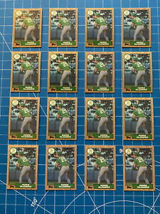(16) 1987 Topps Mark McGwire Rookie NM+ #366 Oakland Athletics