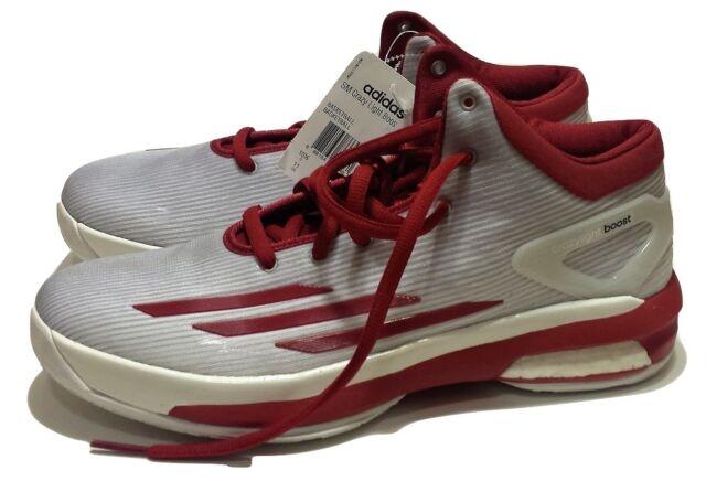 9df4573215e5 Men s Adidas SM Crazy Light Boost Basketball Shoes NWT Size 11 White Crimson