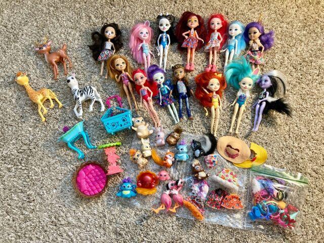 Enchantimals Mattel 14 Dolls + with Animal Friends & Accessories