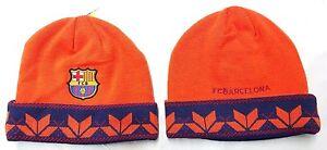 368e5b2cc28 FC Barcelona Cuffed Beanie Winter Hat Cap New With Tags OSFM ...