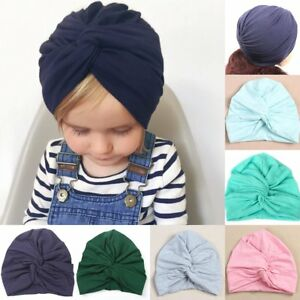 Toddler Infant Kids Baby Girls Turban Bowknot Hat Bunny Ear Cotton ... e7f1575bacaa
