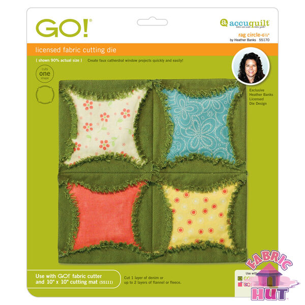 Accuquilt GO! Fabric Cutting Die Rag Circle 6.5 inch by Heather Banks 55170