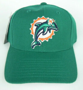 MIAMI-DOLPHINS-NFL-PUMA-ATA-TEAL-VINTAGE-STRAPBACK-OLD-LOGO-RETRO-CAP-HAT-NWT