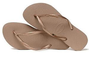 42908b01aa1a1d Havaianas Women`s Flip Flops Slim Style Sandals Rose Gold Sexy ...