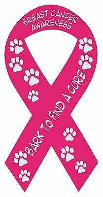 NEW Breast Cancer Awareness PINK RIBBON Magnet Car//Anywhere Magnetic  FREE SHIP