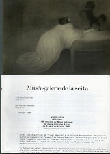 Carte d'invitation exposition dessins Alfred Kubin 1988 , Seita