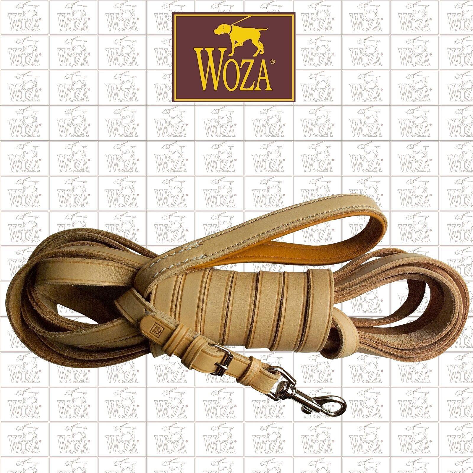 WOZA Premium Handgenähte Trainingsleine Schleppleine Vollleder Rindnappa LS11968    Viele Stile