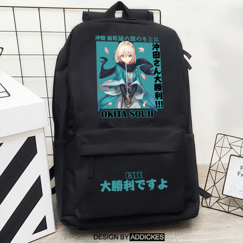 Anime Fate/grand order Okita Souji Backpack Shoulders Bag Student Schoolbag