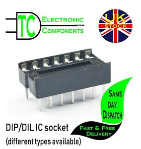 1st CLASS POST 20 x Brand New 6 Pin DIL DIP IC Socket