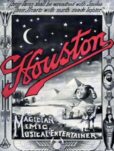 HOUSTON THE MAGICIAN VINTAGE ADVERTISING POSTER ART PRINT 526PY