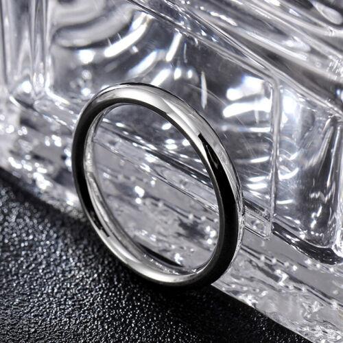 3 mm or//noir//bande argent femme homme Titane acier bague de fiançailles Taille 4-8