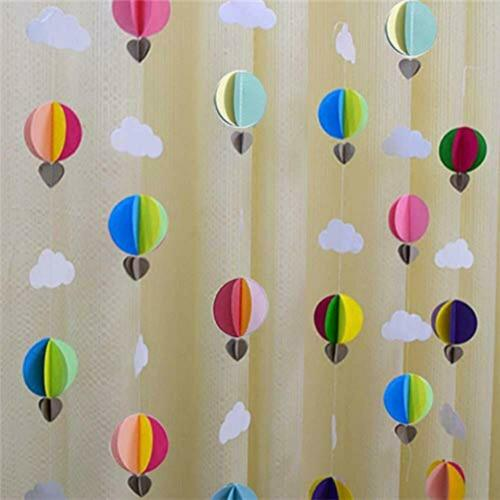 3D Lembrancinhas Coloridas Nuvens Cortina pendurado Flor De Papel Arco-íris pacote com 3 X 9.2ft
