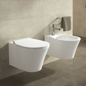 Sanitari sospesi wc sedile soft close bidet ideal standard for Ideal standard tesi sospesi scheda tecnica