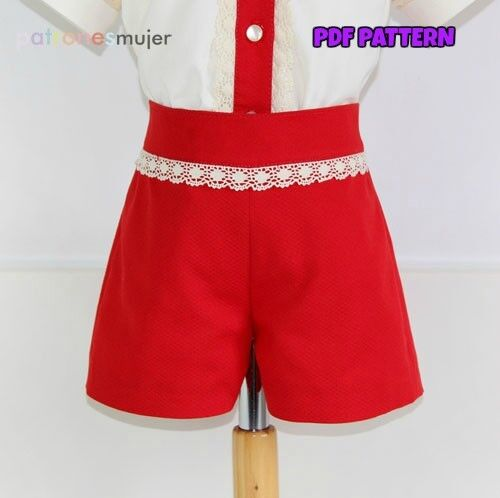 PDF SEWING PATTERN+VIDEO Short Pants Baby Infant Children Boys SPANISH DESIGN
