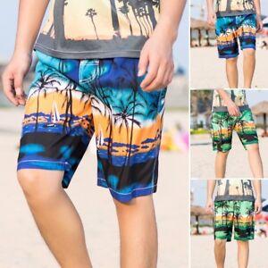 Sports Pants Gym Cargo Beach Shorts Men Summer Print Trunks Quick Dry Beach Surfing Running Short Pant