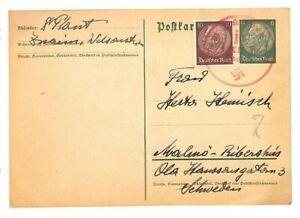 Amical L'allemagne Entiers Postaux Suède 1938 {samwells Couvre -} Cg253-rs} Cg253fr-fr Afficher Le Titre D'origine