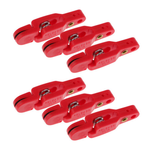 6x Adjustable Offshore Fishing Planer Board Line Clip Downriggers Outriggers