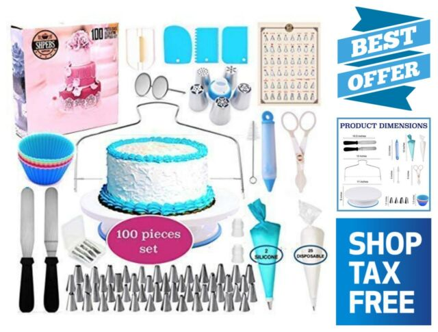 100 Piece Cake Decorating Supplies Kit Frosting & Pastry Tools Baking  Supply Set
