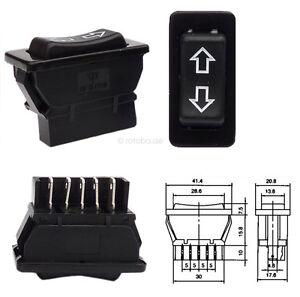 12V-Schalter-fuer-elektrische-Fensterheber-Auto-KFZ-Taster-Wippschalter-12