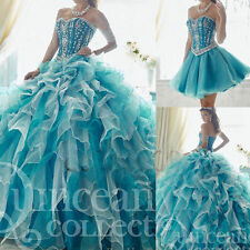 New Formal Two Piece Detachable Skirt Quinceanera Cocktail Prom Dress Ball Gown