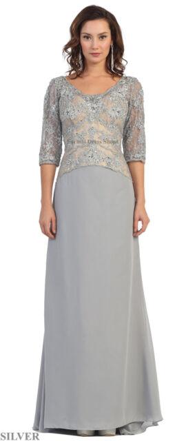 Formal Plus Size Long Dress Modest Evening Gown Church Banquet ...