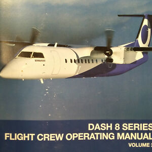 bombardier dash 8 series flight crew operating manual vol 2 ebay rh ebay com manual dash 8 manual dash 8 q400