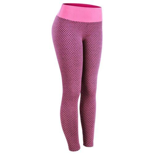 Grid Tights Yoga Pants Gym Push Up Women Seamless High Waist Leggings Breathable