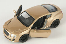 BLITZ VERSAND Bentley Continental Supersports gold Welly Modell Auto NEU & OVP