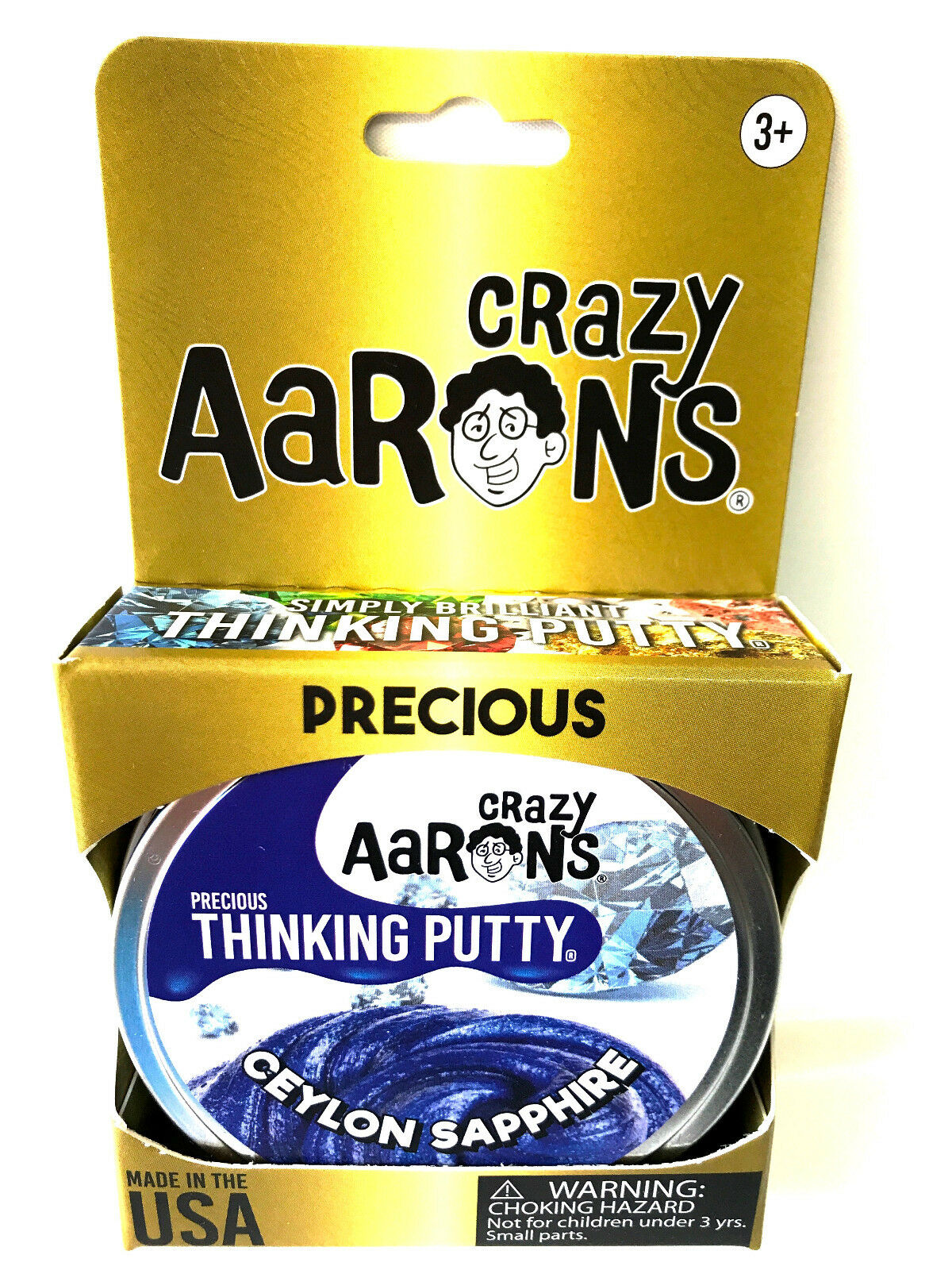1.6 Ounce Crazy Aarons Thinking Putty Precious Gems Ceylon Sapphire Crazy Aaron/'s CS011
