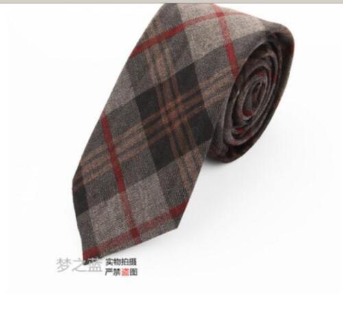 Men/'s Fashion Personality Rétro Décontractée Groom Cashmere Plaid Tie 6 cm