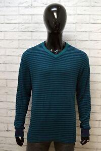 Maglione-a-Righe-Uomo-LEE-Taglia-XL-Pullover-Caldo-Cotone-Cardigan-Felpa-Sweater