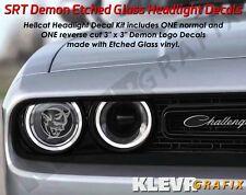 NEW Dodge Challenger Demon Logo Headlight Decals Vinyl Sticker Mopar SRT Hellcat