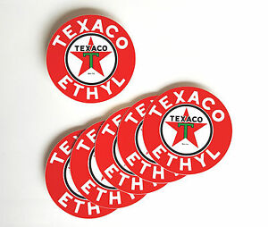 "Texaco Star 3/"" Vinyl Decal DC120C"