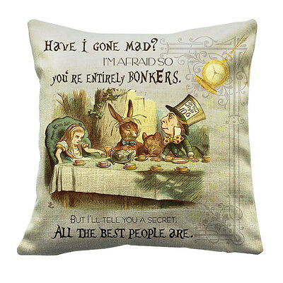 16X16 Alice In Wonderland Cushion Throw Pillow Traditional Design