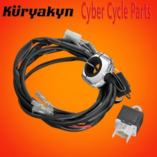 Kuryakyn Chrome Driving Light Wiring And Relay Kit With Handlebar Switch 2202