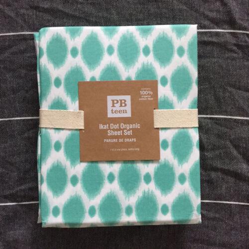 Pottery Barn Teen Ikat Dot Organic Twin XL sheet set pool
