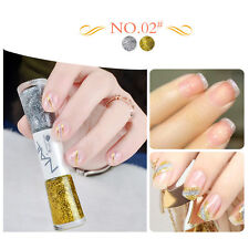 Dual-ended Liner Nail Polish Pen Silver And Gold Liner Varnish Manicure 14ml #02