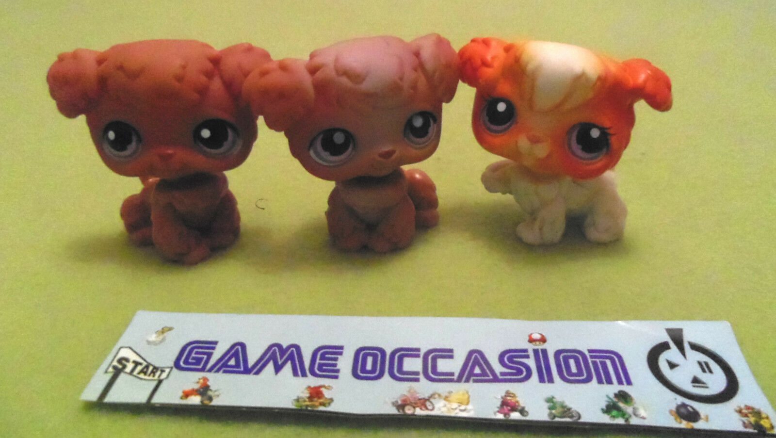 LITTLEST PETSHOP SET DI 3 PET SHOP CANE BARBONCINO N.37, N.38 & N.39