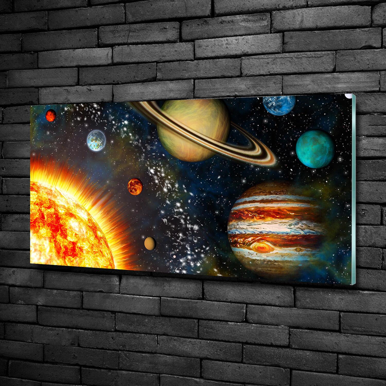 Vetro-Immagine Parete immagini Vetro-stampa 100x50 spazio & fantascienza sistema solare