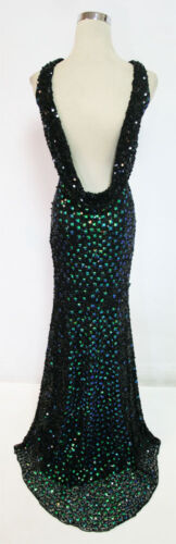 Peacock $458 Gown 2 Cassandra Stone by MacDuggal 3737A Black